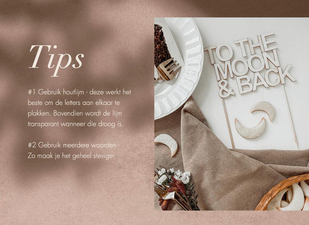 Extra tips bij DIY cake topper